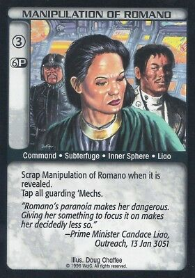 Manipulation Of Romano Battletech CCG TCG Rare Limited Edition Karte Mint