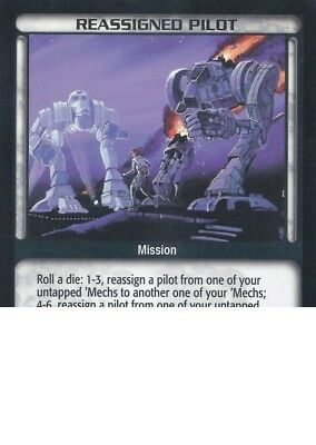 Reassigned Pilot Battletech CCG TCG Rare Limited Edition Karte Mint