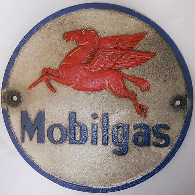 Mobilgas Mobil pegasus oil gas gasoline station cast iron sign #669