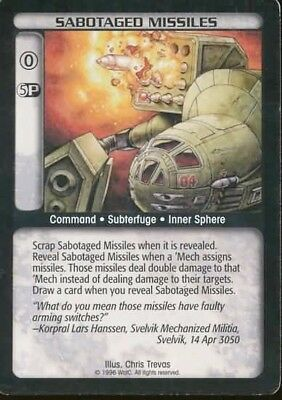 Sabotaged Missiles Battletech CCG TCG Rare Limited Edition Karte Mint