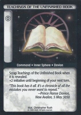 Teachings Of The Unfinished Book Battletech CCG TCG Rare Lim. Edition Karte Mint