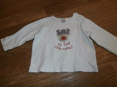 Babys first Christmas long sleeved next top 9-12 month