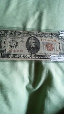 Fr 2305 1934-A $20 HAWAII Federal Reserve Note FRN