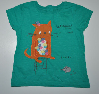 Next Baby Girl Green Blouse T- Shirt Top Age 6-9 Months Eur 74Cm