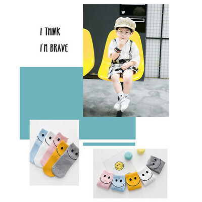 Cute Smile Face 5pcs Baby Girls Boy Cotton Socks Socks Kids Warm Casual Hot Sale