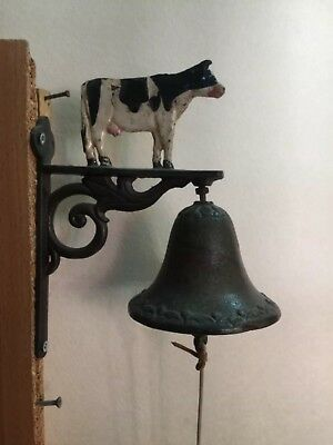 Antique Solid Steel Door Bell With Original Clapper In A Great Condition