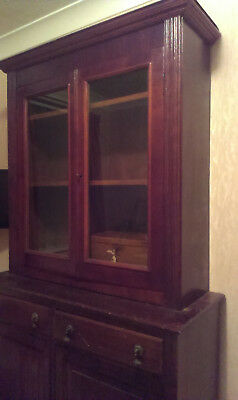 Mahogany Glazed Bookcase With Separate Cupboard