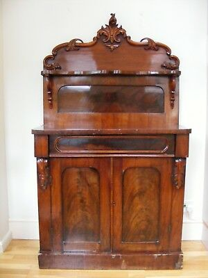 Mahogany Chiffoniere (side board) c1860's, a good colour with fine figuring