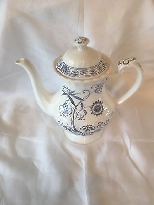 J&G Meakin Blue Nordic coffee pot 4 cup c1960