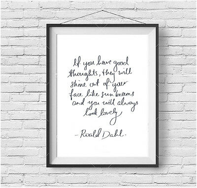 ROALD DAHL QUOTE Art picture TWITS Quote Sunbeams Print Quentin Blake *UNFRAMED