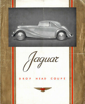Original Jaguar Drop Head Coupe Mark IV Brochure RARE !!!