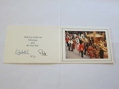 Signed Queen Elizabeth & Prince Philip Christmas/new Years Card – Royal Interest
