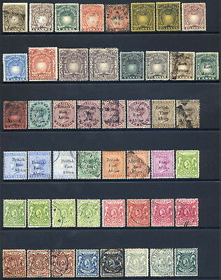 British East Africa 1890-1903 Useful Mint & Used Range Of 54 Stamps Incl 3R (2)