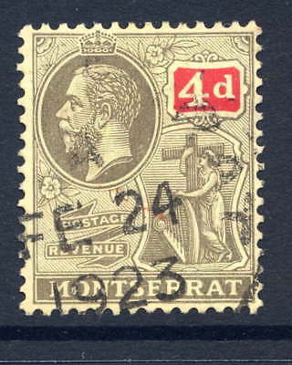 Montserrat 1916-22 4D Grey-Black & Red/pale Yellow Fine Used With Dated Cds