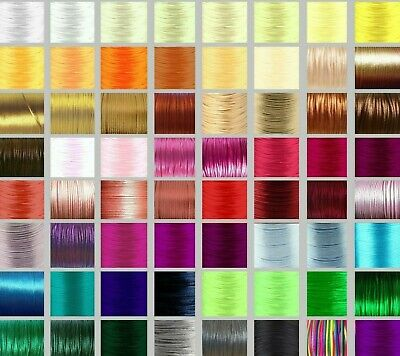 2mm Rattail Satin Cord 80 COLOURS Nylon Thread for Kumihimo Macrame Shamballa