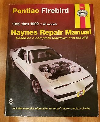 repair manual haynes 79019 fits 82 92 pontiac firebird 18 99 rh picclick com Auto Repair Manuals Online Haynes Repair Manual Online View
