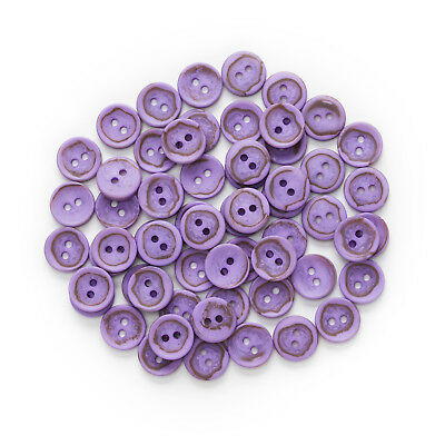 30pcs Mixed 2 Hole Purple Round Resin buttons Decor Sewing Scrapbooking 12.5mm
