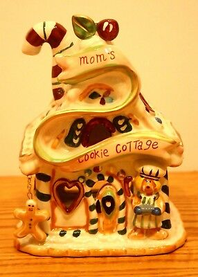 Sweet Blue Sky Clayworks Christmas Moms Cookie Cottage T Light Gingerbread House