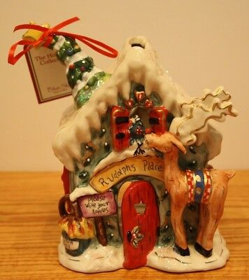 Lovely New Christmas Blue Sky Clayworks Rudolphs House T Light Goldminc Reindeer