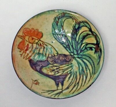 Chelsea Pottery Cockerel dish by Joyce Morgan - perfect condition - Free P&P