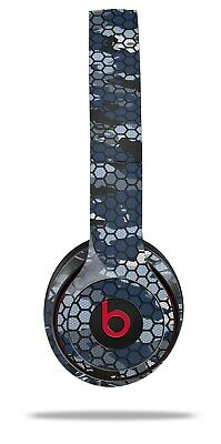 Skin Beats Solo 2 3 HEX Mesh Camo 01 Blue Wireless Headphones NOT INCLUDED