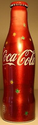 Unopened Denmark X-mas lights Coca-Cola alu bottle 250 ml 2008