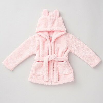 Girls Hooded Fleece Robe - Pink - Personalised 'Avaleen' - Age 1-2  - Box67 02 J