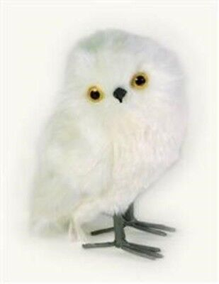 Victorian Trading Co White Snow Owl Owlet Faux Fur & Feathers New Figurine