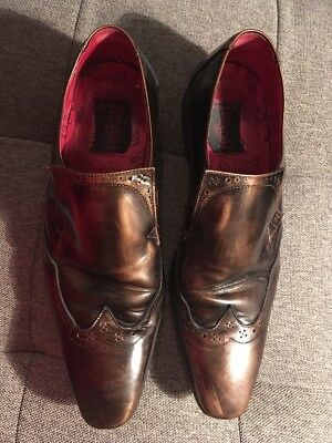 Jeffery West All Leather Shoes • Size 9 • Antique Leather Look