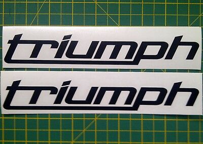 Triumph DECALS new style x 2
