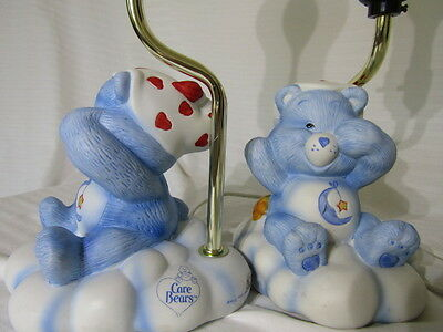 2 Vintage Care Bear Lamps
