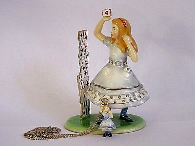 "Arora Hidden Treasures ""Alice"" From Alice in Wonderland Trinket Box & Necklace"