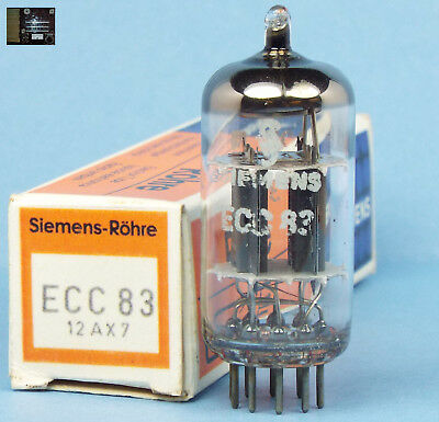 ANOS Siemens ECC83 12AX7 double getter support Munich made in box tests strong