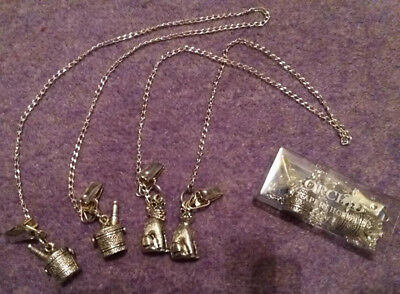 Christmas Gift idea traditional 3 napkin holders silver: wine coolers x2 & cats