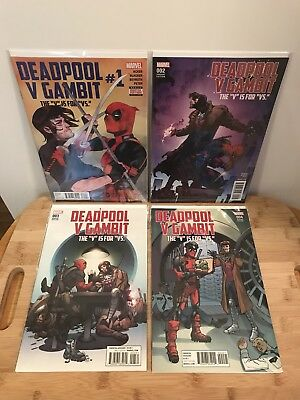 DEADPOOL V GAMBIT #1 2 3 4 - 3 Variants NM (Marvel) Lot of 4 comics