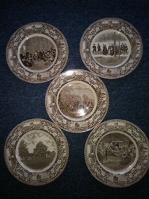 Crown Ducal Colonial Times 10 1/2 inch  Dinner  Plates....