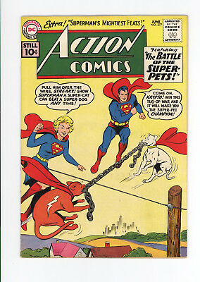 ACTION COMICS #277 - HIGHER GRADE - CLASSIC SUPERGIRL COVER, KRYPTO vs STREAKY!