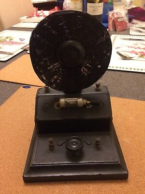 Vintage crystal radio set Brownie Wireless Co