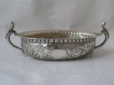 Dainty Georgian Antique Solid Sterling Silver 2-Handle Bowl c. 1800/ L 10.6 cm