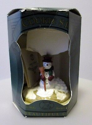 Winter Holiday Snowman Christmas Cookie Stamp Cutter - 1995 - Never Used