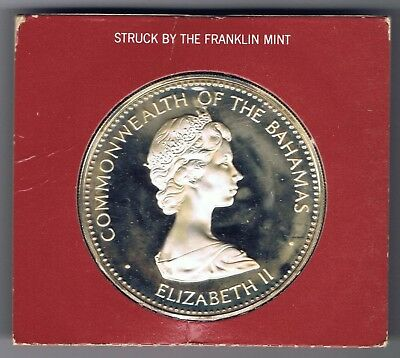 1973 Bahamas Independence Day $10 Dollar  Silver Proof Coin with COA