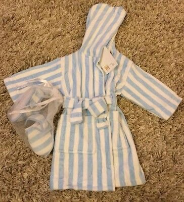 Baby Dressing Gown and slippers, John Lewis BNWT, age 6-9 months