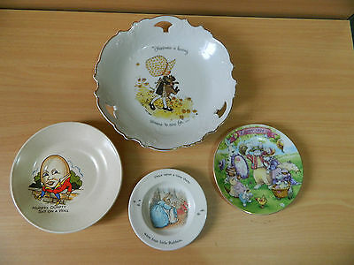 4x Collector Plates Holly Hobbie Peter Rabbit Wedgwood Avon Easter Plate Johnson