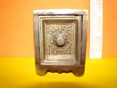 Antique Safe Deposit Safe Cast Iron Still Bank - 1897 - Cool!