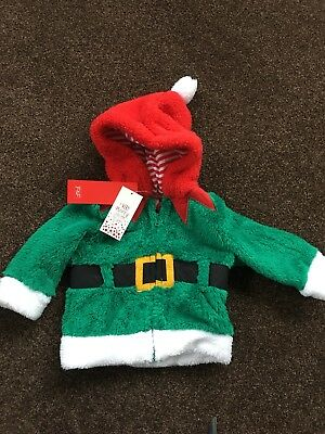Tesco F&F elf Fluffy Christmas Fleece 3-6 Months New With Tags Jacket Unisex