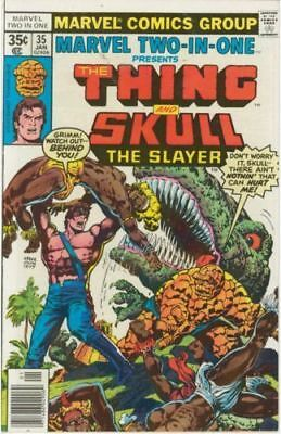 Marvel Two-In-One #35 (Thing/skull The Slayer) Fine Fantastic Four