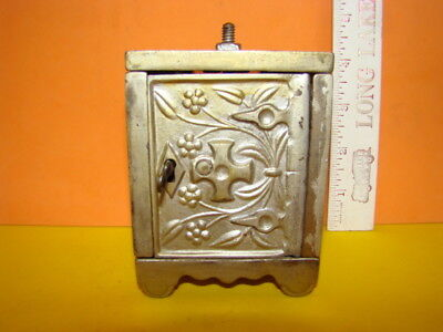 Antique J & E Stevens Key Lock Safe No. 50 Cast Iron Still Bank - 1897 - Cool!
