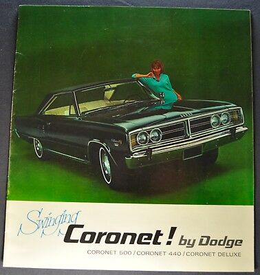 1966 Dodge Coronet Catalog Brochure 500 440 Wagon Excellent Original 66 Canadian