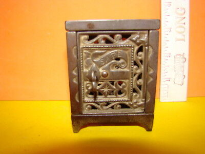 Antique Ornate Safe Cast Iron Still Bank - 1896 - Cool!