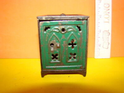 "Antique ""Church Door"" Key Safe Cast Iron Still Bank - Early 1900's - Cool!"